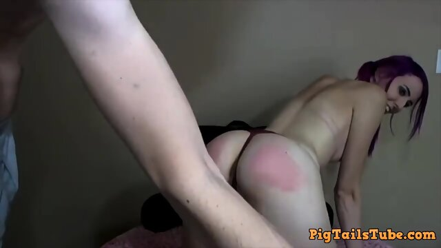 Teen Gets Spanked and Sucks Dick With Cum Facial