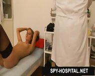 Spy Cam Clinic Video Of Hot Blonde Vagina Exam - scene 4