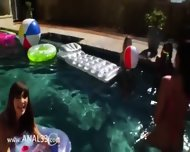 Great Group Anal Fun By The Swimmingpool - scene 4