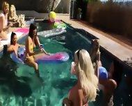 Great Group Anal Fun By The Swimmingpool - scene 5