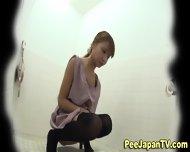 Peeing Asians Hairy Muff - scene 4