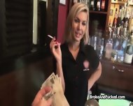 Adorable Barmaid Fucked For Cash Pov Style - scene 2