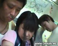 Miniskirt Schoolgirl Groped In Train - scene 10