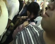 Miniskirt Schoolgirl Groped In Train - scene 4