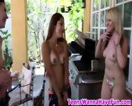 Teen Sluts Party Outside - scene 3