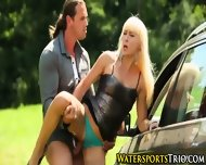 Pissed On Blonde Babe - scene 5