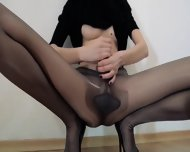 Hot 18yo Schoolmate Teasing In Front Of Mirorr - scene 5