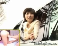 Publicsex Loving Nippon Fucked In A Car - scene 10