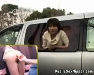 Publicsex Loving Nippon Fucked In A Car - scene 2