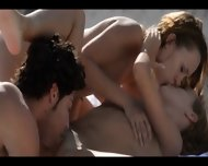 My Erotic Christmass Ffm Threesome - scene 6