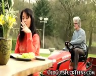 Outdoor Teen Blows Elder - scene 1