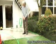 Outdoor Teen Blows Elder - scene 2