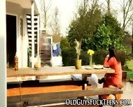 Outdoor Teen Blows Elder - scene 3