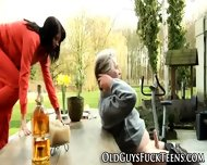 Outdoor Teen Blows Elder - scene 5
