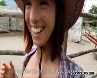 Beautiful Amateur Cowgirl Tina Hot Pounded Outdoors For Cash - scene 3