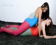 Hairy Lesbians In Nylon Lingerie Loving - scene 1