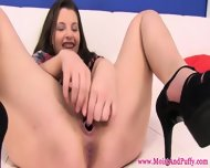 Juicy Cherry Babe Filling Her Vulva - scene 11