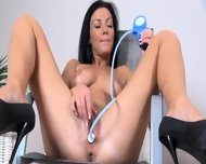 Luxury Breasty Brunette With Dildo - scene 7