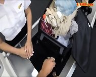 Stewardess Sells Her Stuff And Pounded In The Pawnshop - scene 3