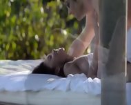 Exotic Cheerleader Making Love In The Gardens - scene 2