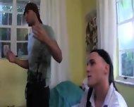 Three Young Girls Erotica With Burglar - scene 5