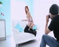 Daintily Bitch Posing Before Camera - scene 8