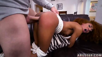 Ebony oral squirt and young brunette with perfect Pretty Tied up