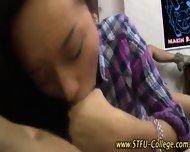 Asian Teen Rides Cock - scene 2
