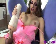 Tranny Toys Her Hard Cock - scene 7
