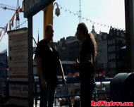 Real Amsterdam Prostitute Swallows Load - scene 2
