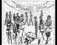 Slaves In Bondage Bdsm Cartoon Art - scene 8