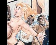 Slaves In Bondage Bdsm Cartoon Art - scene 10