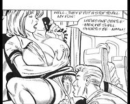 Busty Big Naturals Tits Stewardess Takes On Huge Cock Threesome Xxx Comic - scene 2
