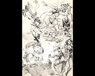 Amazons Dominate In Mixed Wrestling Lesbian Wrestling Art Comics - scene 1