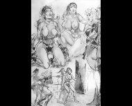 Amazons Dominate In Mixed Wrestling Lesbian Wrestling Art Comics - scene 12