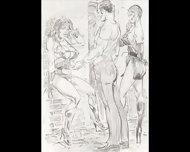 Amazons Dominate In Mixed Wrestling Lesbian Wrestling Art Comics - scene 4