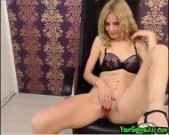 Sexy Slender Blonde Milf On Cam - scene 1
