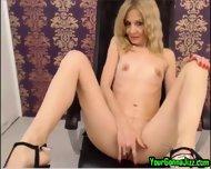 Sexy Slender Blonde Milf On Cam - scene 10