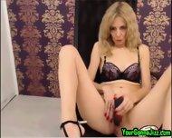 Sexy Slender Blonde Milf On Cam - scene 4