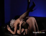 Horny Brunette Getblowjob Penis Of Rubber - scene 12