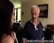 Euro Teen Nails Old Cock - scene 2
