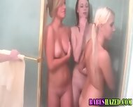 College Teens Shower Off - scene 11