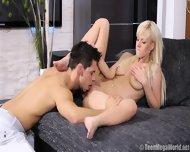 Cute Blonde Takes Care Of Boyfriend's Dick - scene 4