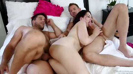 Double Penetration Of Horny Brunette - scene 8