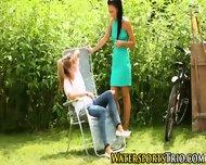 Outdoor Lesbian Soaked - scene 3