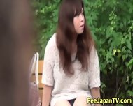 Japanese Hos Piss Outside - scene 1