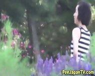 Japanese Hos Piss Outside - scene 9