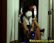 Urine Fetish Threesome - scene 12