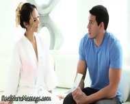 Jerking Masseuse Sprayed - scene 1