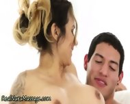 Jerking Masseuse Sprayed - scene 5
